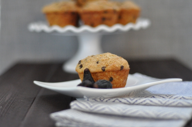 Hazelnut Chocolate Fig Muffins
