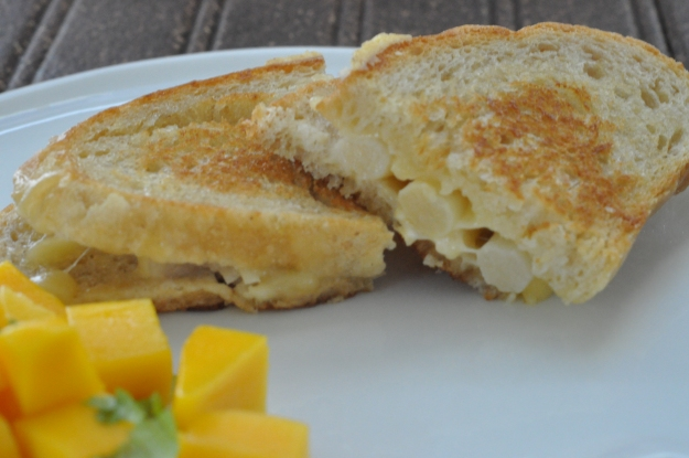 Grilled Cheese with White Asparagus