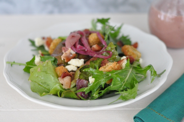Mixed Greens with Caramelized Onion Vinaigrette