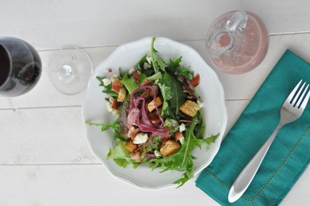 Mixed Greens with Caramelized Oinion Vinaigrette