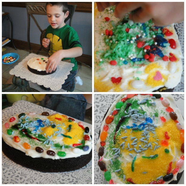 Ewan Cake Decorating Collage