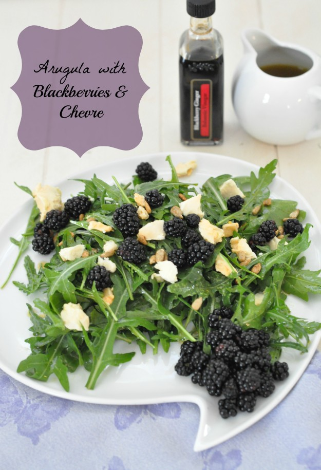Arugula With Blackberries