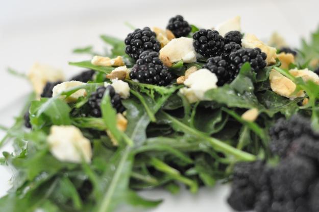 Arugula with Blackberries