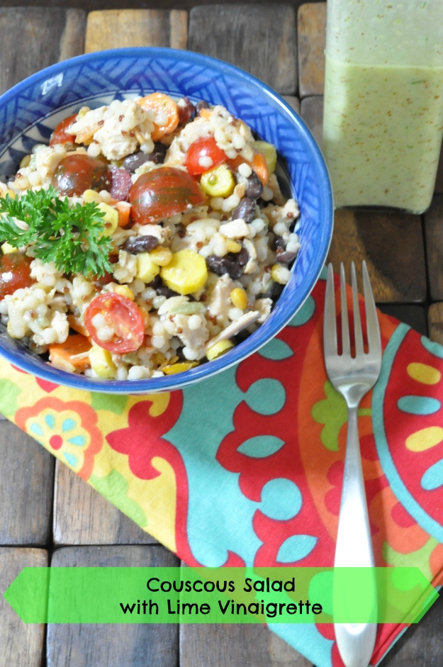 Couscous Salad with Lime Vinaigrette