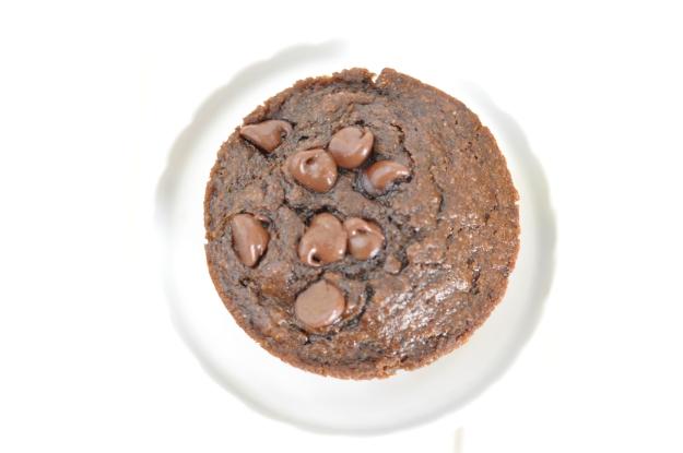 Whole Wheat Zucchini Chocolate Chocolate Chip Muffins