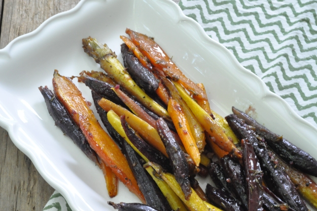 Honey Mustard Roasted Carrots with Rosemary