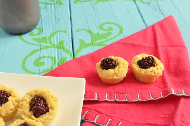 Coconut Lime Blackberry Cornbread Muffins