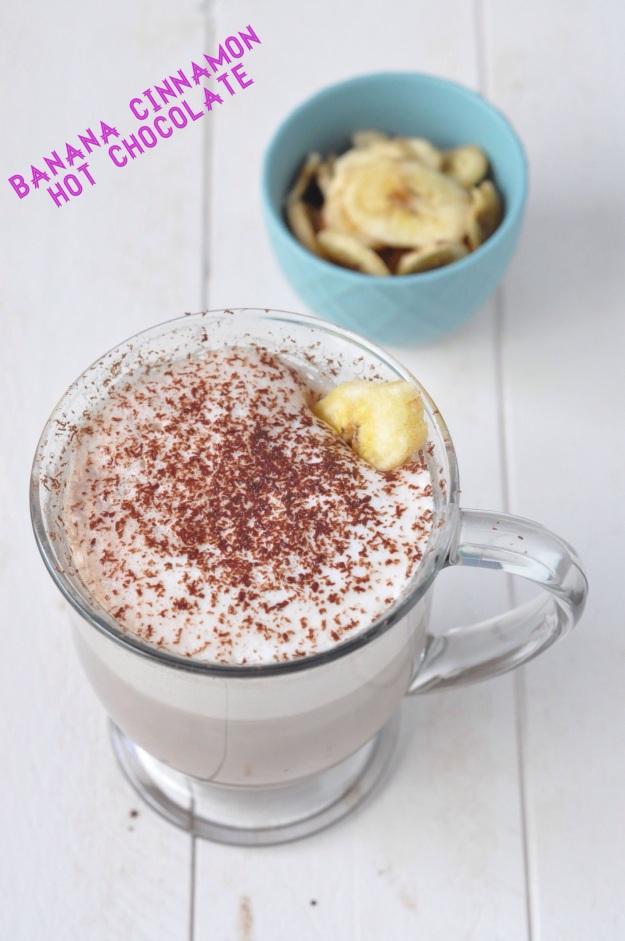 Banana Cinnamon Hot Chocolate