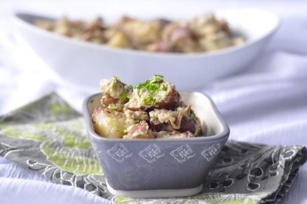 Hazelnut and Caramelized Onion Potatoes