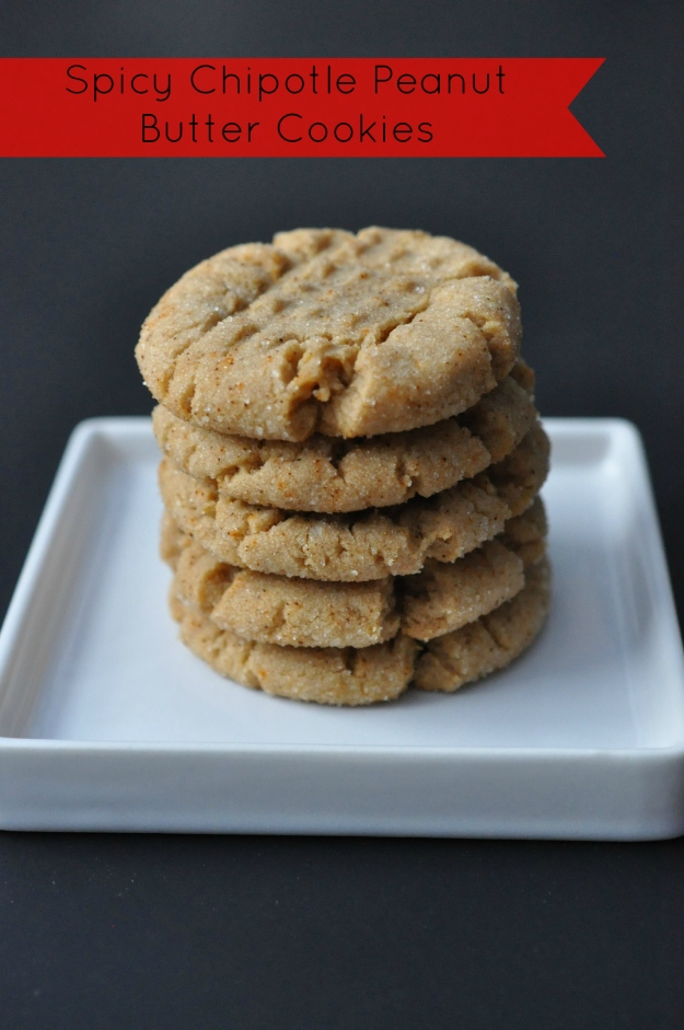 Spicy Chipotle Peanut Butter Cookies