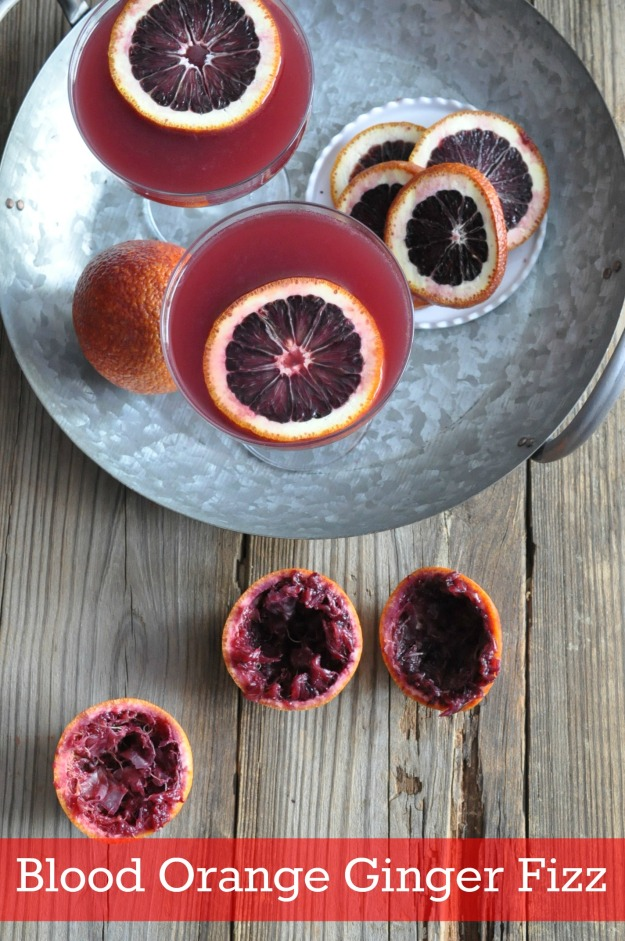 blood orange ginger fizz